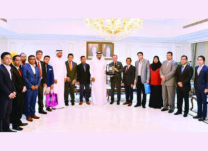 Meeting with the Head of Qatar Chamber of Commerce and the Malaysia Ambassador to Qatar.